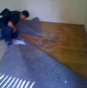 Pulling Carpet