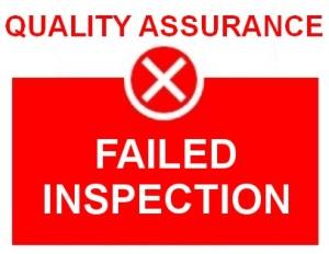 QA Failed Inspection